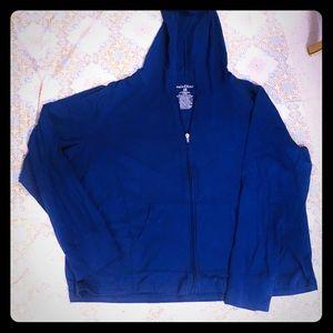 Mix & Co 3x blue zip up hoodie